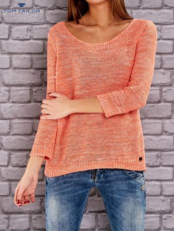 TOM TAILOR Pomarańczowy melanżowy sweter                                   zdj.                                  1