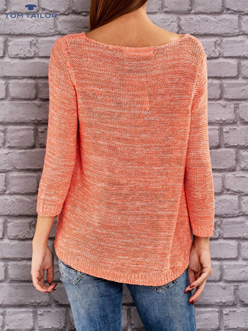 TOM TAILOR Pomarańczowy melanżowy sweter                                   zdj.                                  3