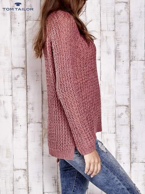 TOM TAILOR Różowy ażurowy sweter                                  zdj.                                  3