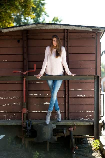 TOM TAILOR Różowy sweter z dodatkiem wełny z alpaki                                  zdj.                                  8