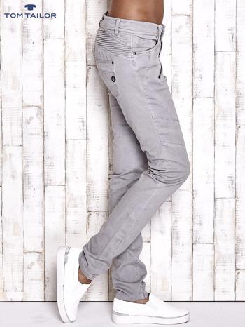 TOM TAILOR Szare materiałowe spodnie                                  zdj.                                  3