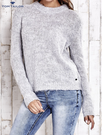 TOM TAILOR Szary sweter z dodatkiem wełny z alpaki                                  zdj.                                  1