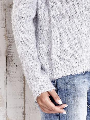 TOM TAILOR Szary sweter z dodatkiem wełny z alpaki                                  zdj.                                  7