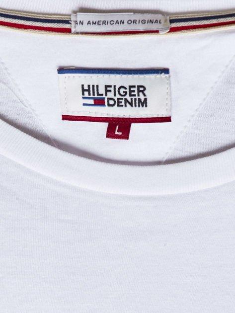 TOMMY HILFIGER Biała bluzka męska z kieszonką                              zdj.                              6
