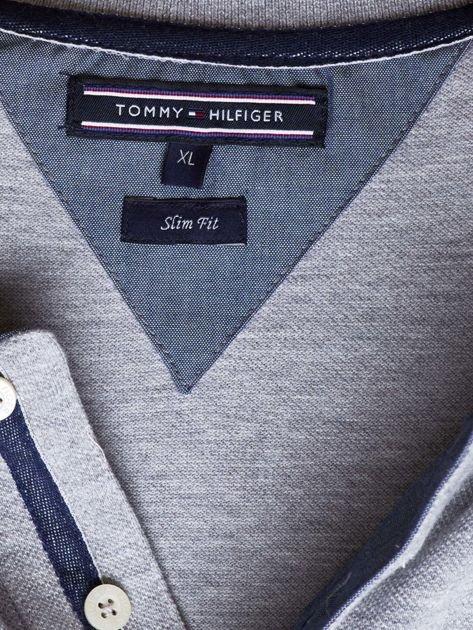 TOMMY HILFIGER Szara koszulka polo męska                               zdj.                              6