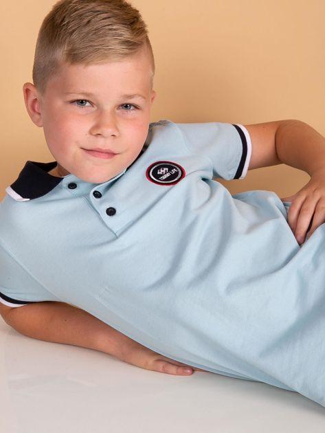 TOMMY LIFE Jasnoniebieska chłopięca koszulka polo