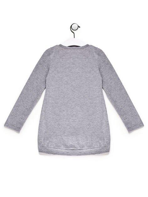 Tunika dla dziewczynki we wzory szara