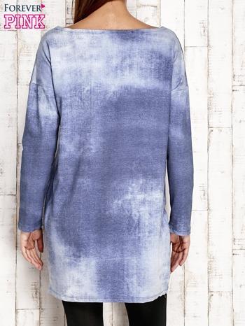 Tunika z naszywkami jasnoniebieska