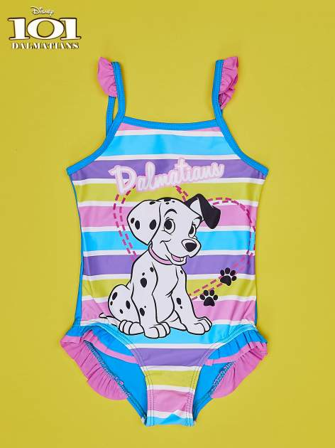 Turkusowy strój kąpielowy dla dziewczynki 101 DALMATYŃCZYKÓW                                  zdj.                                  1