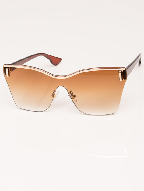 VICS Okulary przeciwsłoneczne damskie brązowe szkło brązowe dymione                              zdj.                              2