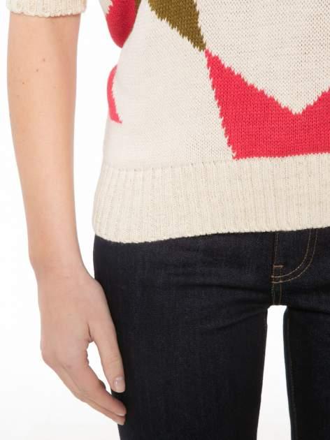 Wielokolorowy sweter z nadrukiem gwiazd                                  zdj.                                  6