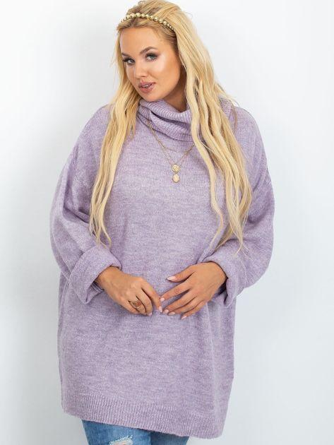 Wrzosowy sweter plus size Poline                              zdj.                              5