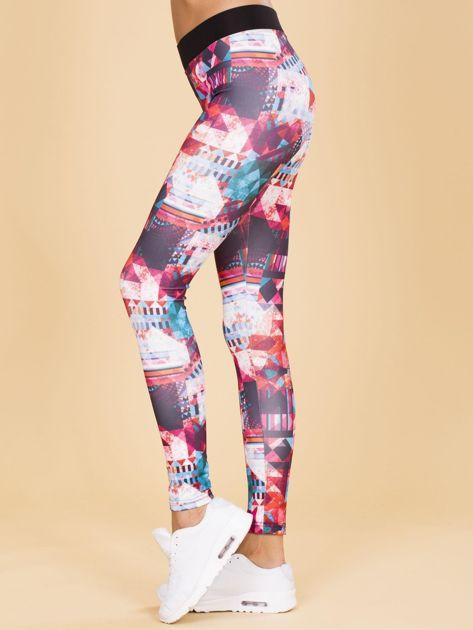 Wzorzyste legginsy damskie                              zdj.                              3