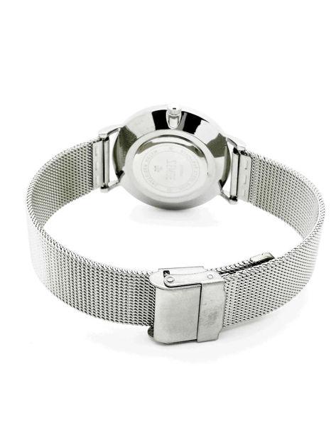 ZEMGE Zegarek damski srebrny na bransolecie typu MESH Eleganckie pudełko prezentowe w komplecie                              zdj.                              4