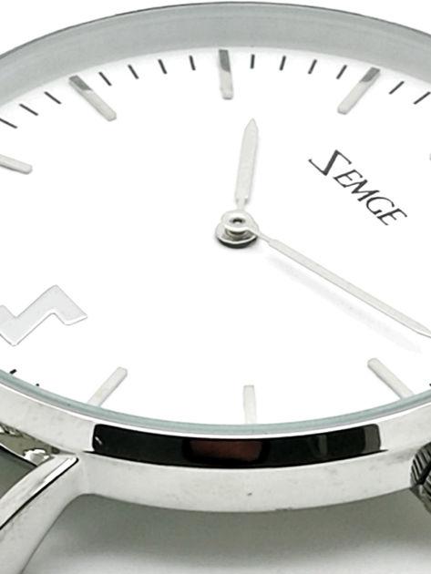ZEMGE Zegarek damski srebrny na bransolecie typu MESH Eleganckie pudełko prezentowe w komplecie                              zdj.                              2