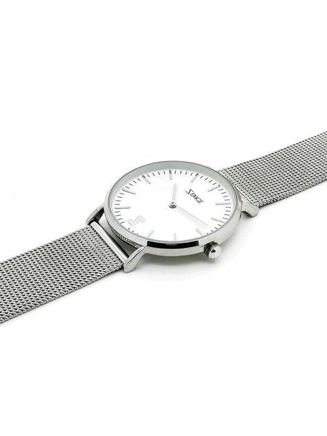 ZEMGE Zegarek damski srebrny na bransolecie typu MESH Eleganckie pudełko prezentowe w komplecie                              zdj.                              5