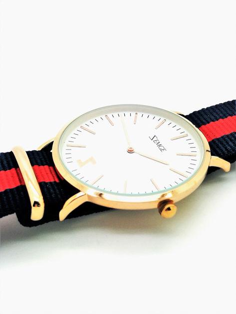 ZEMGE Zegarek unisex złoty na nylonowym pasku Eleganckie pudełko prezentowe w komplecie                              zdj.                              4