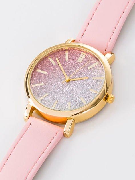 GLITTER OMBRE jasnoróżowy zegarek damski                                  zdj.                                  2