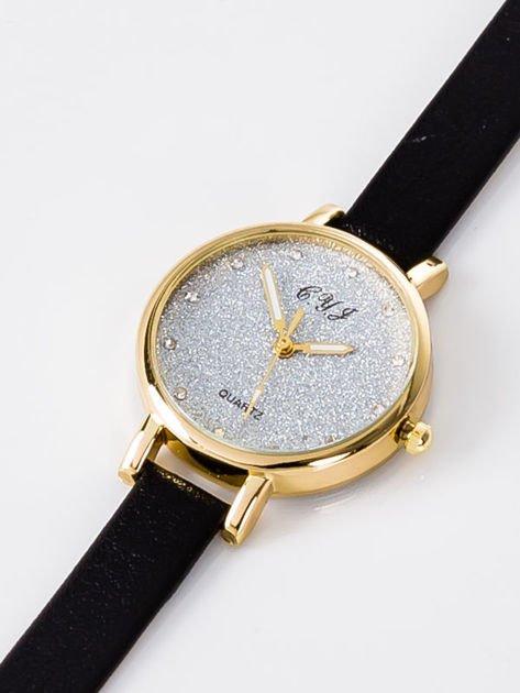 Zegarek damski glitter czarny                                  zdj.                                  2