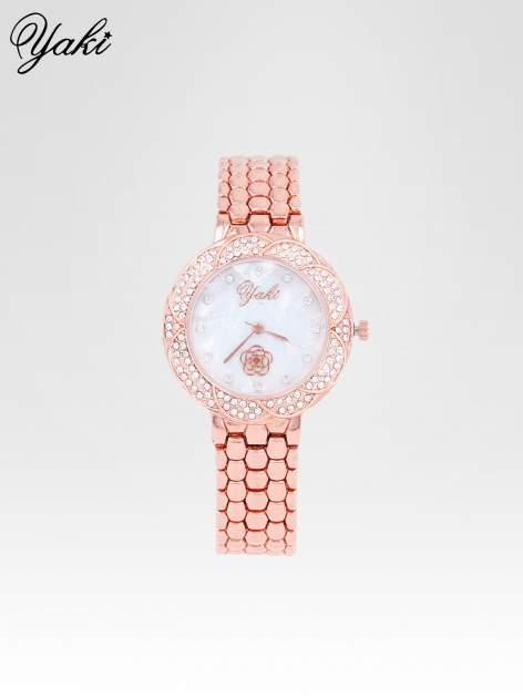 Zegarek damski z cryrkoniową kopertą w kolorze różowego złota                                  zdj.                                  1