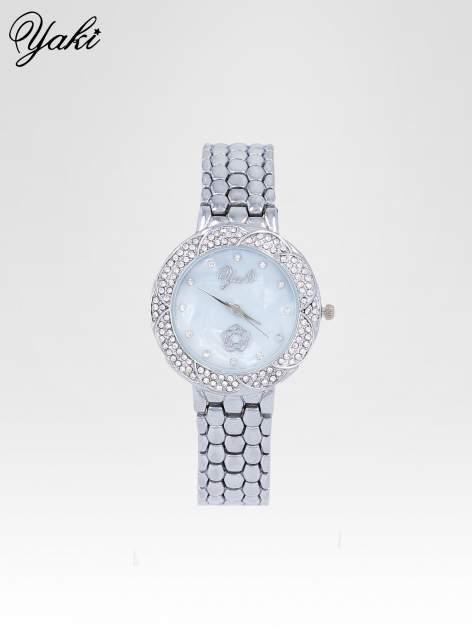 Zegarek damski z cryrkoniową kopertą w kolorze srebra