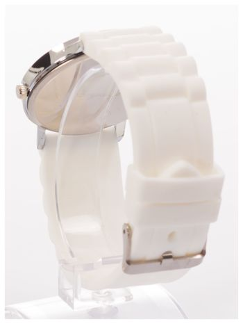 Zegarek unisex. Duża, wyraźna tarcza i doskonała prezencja. Wygodny silikonowy pasek.                                  zdj.                                  4