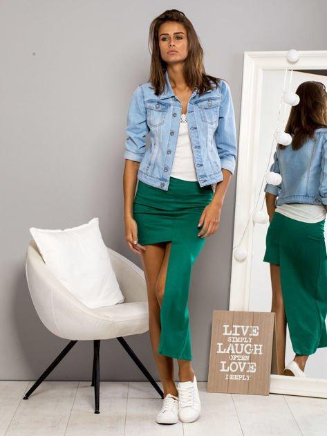Zielona asymetryczna spódnica                              zdj.                              4