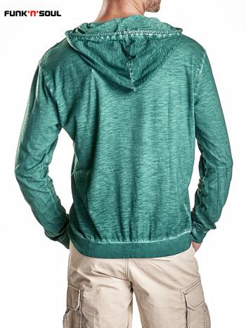 Zielona bluza męska z efektem acid wash Funk n Soul                                  zdj.                                  3