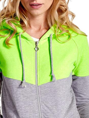 Zielona bluza z szarym pasem                                  zdj.                                  6