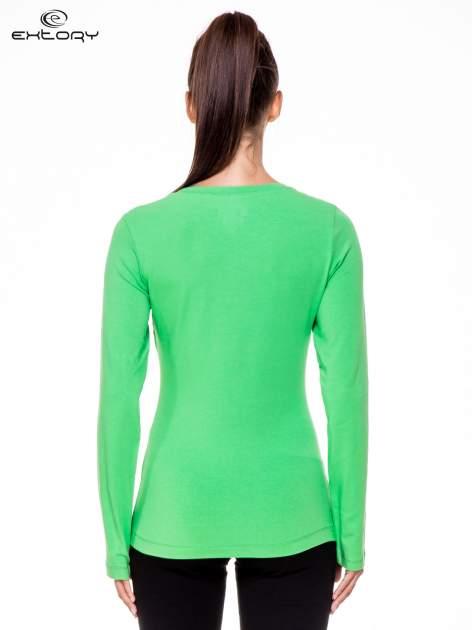Zielona bluzka sportowa z dekoltem U                                  zdj.                                  4