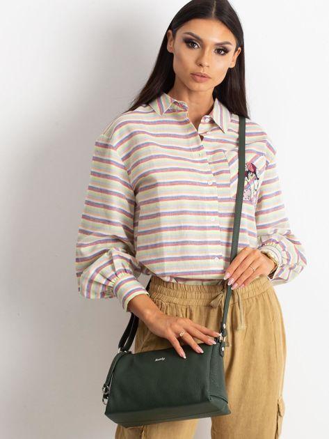 Zielona damska torebka skórzana                              zdj.                              1