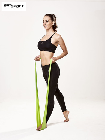 Zielona guma do ćwiczeń poziom średni                                  zdj.                                  2