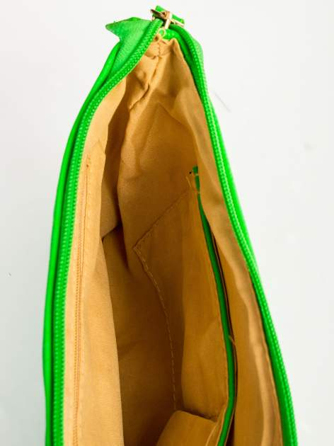 Zielona kopertówka z dżetami motyw apple                                  zdj.                                  8