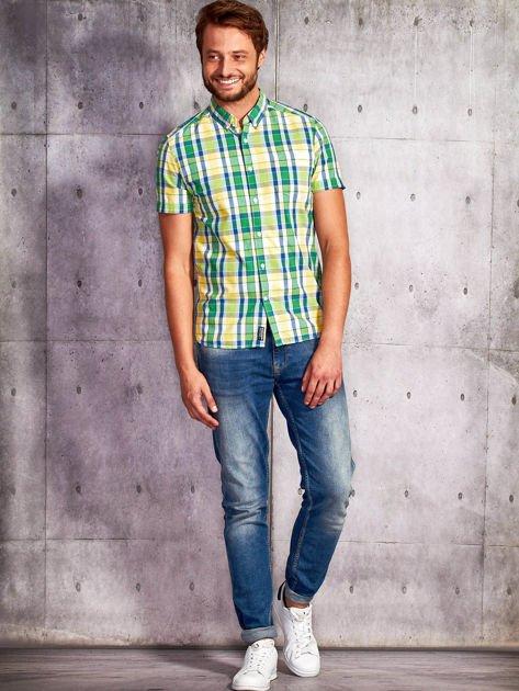 Zielona koszula męska w kratę Funk n Soul                                  zdj.                                  5