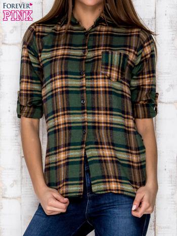 Zielona koszula w kratę                               zdj.                              1