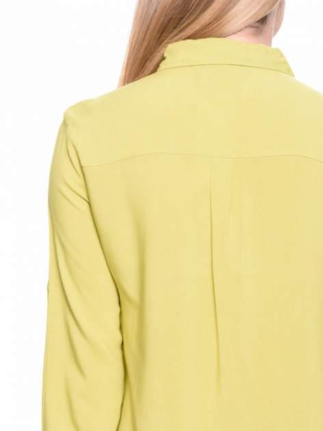 Zielona koszula z aplikacją czaszki z cekinów                                  zdj.                                  6