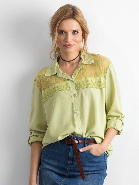Zielona koszula z długim rękawem                               zdj.                              1
