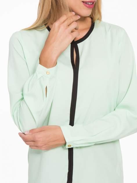 Zielona koszula z kontrastową listwą                                  zdj.                                  8