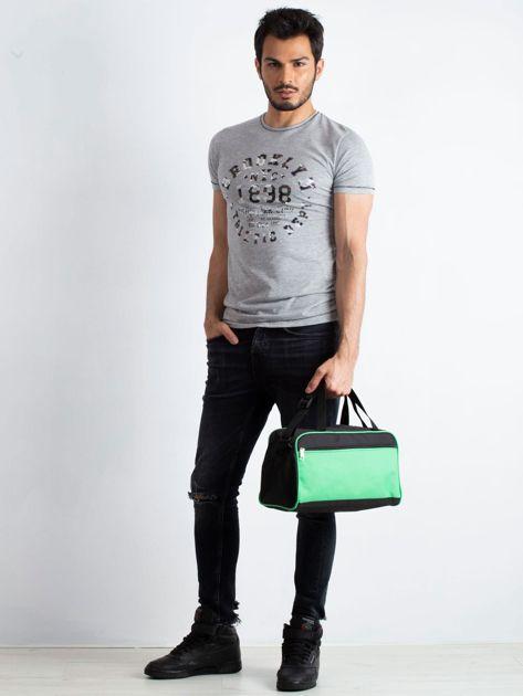 Zielona męska torba na ramię                              zdj.                              4