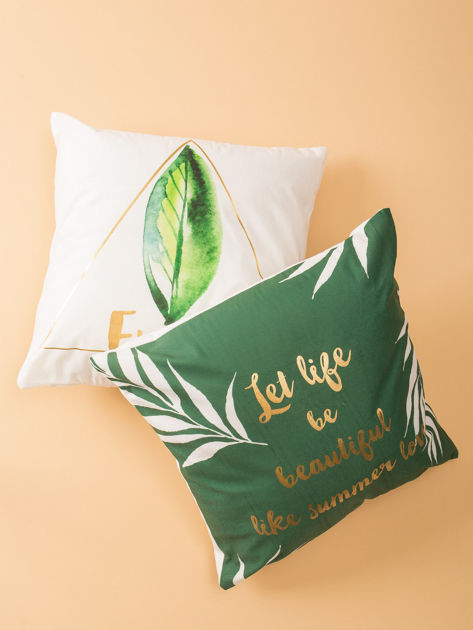 Zielona poduszka dekoracyjna                              zdj.                              1