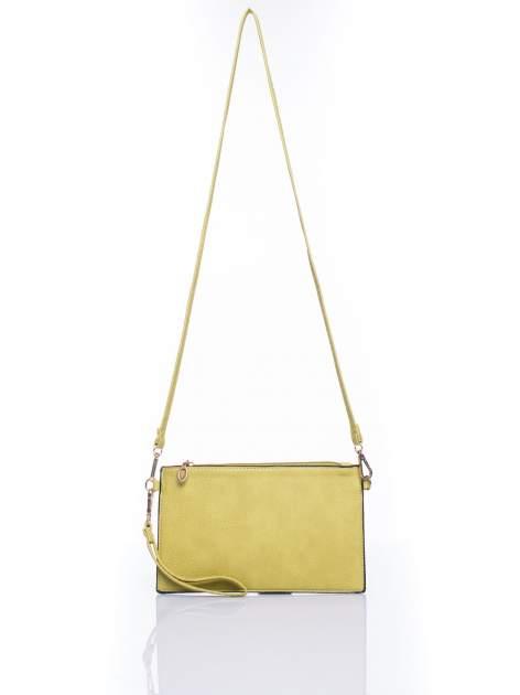 Zielona prosta przewieszana torebka z uchwytem                                  zdj.                                  4