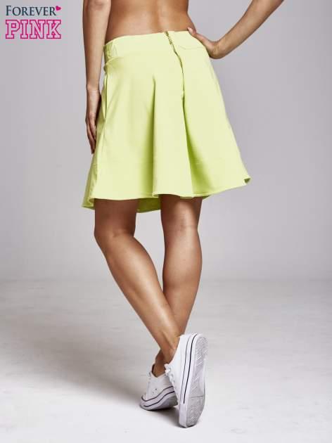 Zielona spódnica dresowa skater                                  zdj.                                  4