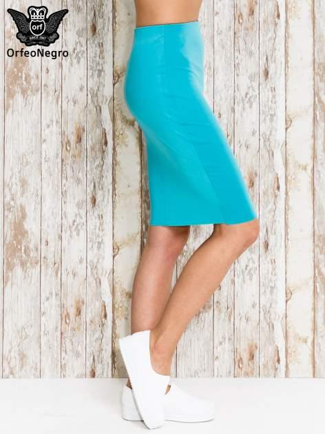 Zielona spódnica tuba za kolano                                  zdj.                                  3