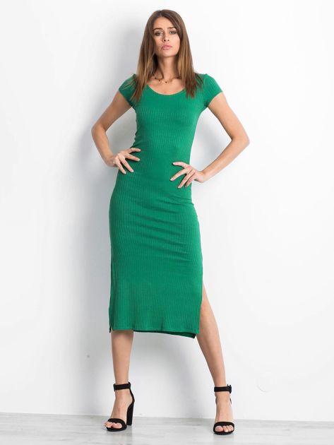 Zielona sukienka Touching                              zdj.                              4