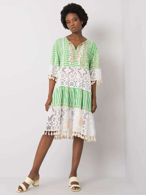 Zielona sukienka boho Nayeli