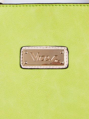 Zielona torba shopper bag z ozdobnymi ćwiekami                                  zdj.                                  4