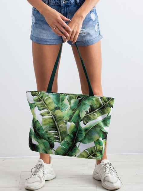 Zielona torba w liście                              zdj.                              3
