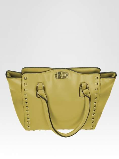 Zielona torebka na ramię z dżetami                                  zdj.                                  8