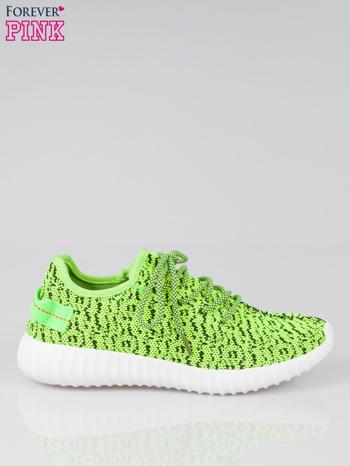 Zielone buty sportowe textile Blossom z uchwytem z tyłu