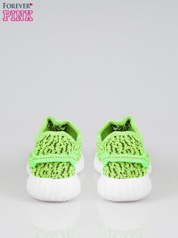 Zielone buty sportowe textile Blossom z uchwytem z tyłu                                  zdj.                                  3